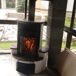 Печь-камин Hark мод. 34 GT Ecoplus (Германия). Частный дом п. Зеленый Бор