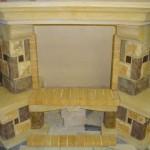 Облицовка СЕЛЕСТА угловая под 700 с деревянной балкой