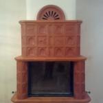 Топка Termovision 900 (Франция). Облицовка из изразцов Mullit (Венгрия). Частный дом п. Лаишево