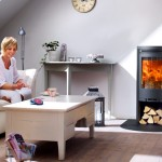 Stove Contura 510 with log store