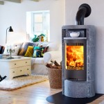 Soapstone stove 660T with log store and hot shelf