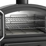 8 уровней для установки решетки гриля позволяет использовать посуду любой высоты